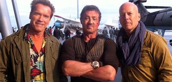 Arnold Schwarzenegger, Sly Stallone, Bruce Willis