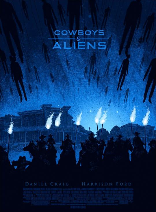 Daniel Danger's Cowboys & Aliens Mondo Poster