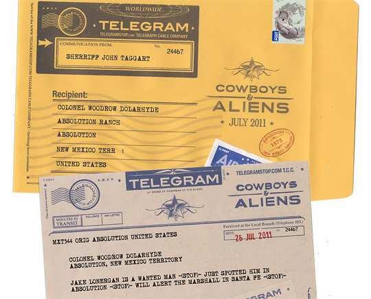 Cowboys & Aliens Telegram