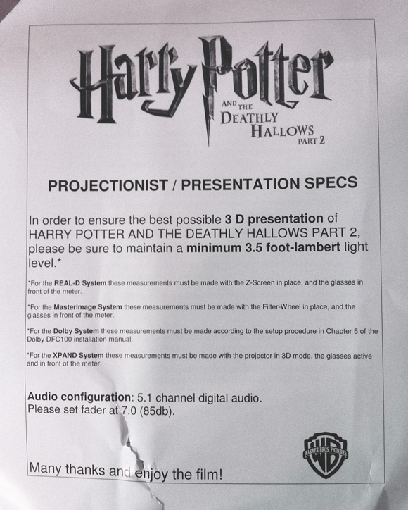 director david yates personal letter to pop deathly hallows part 2 director david yates letter to 397