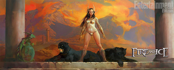 Frank Frazetta's Fire and Ice Concept Art