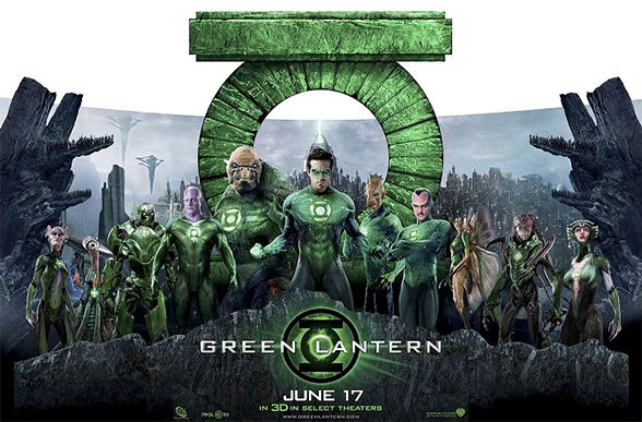 Green Lantern Theater Standee