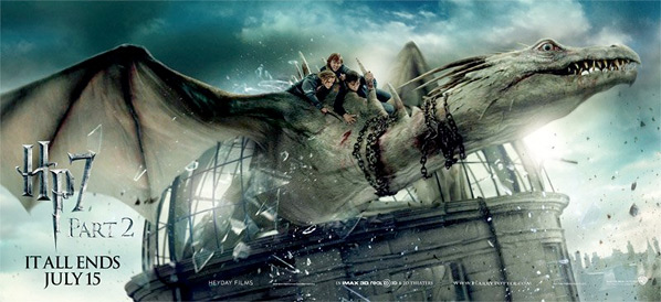 Harry Potter and the Deathly Hallows: Part 2 Banner - Gringotts Dragon