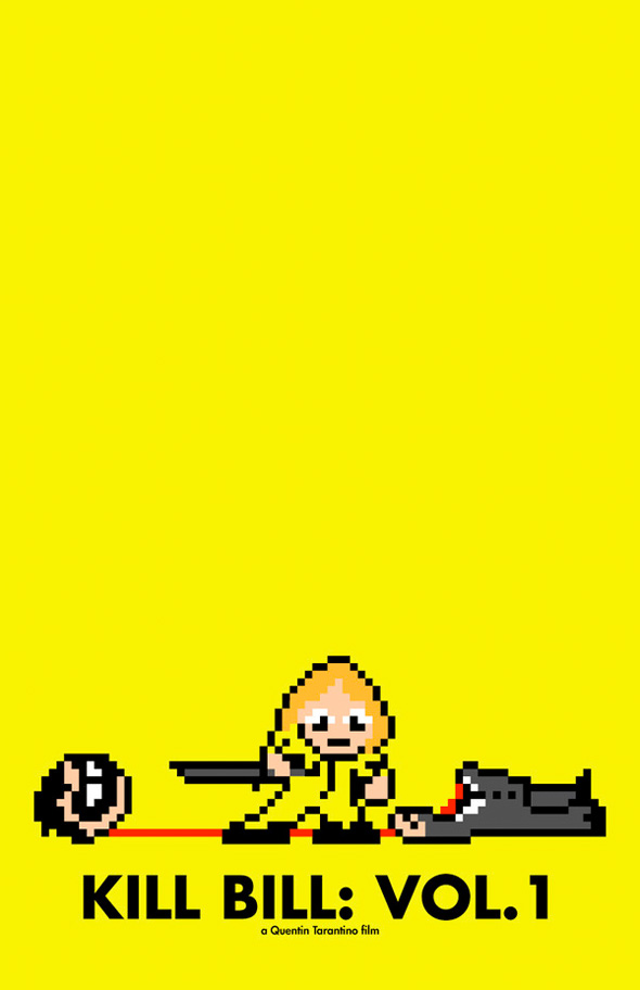 8-Bit Movie Posters - Kill Bill Vol 1