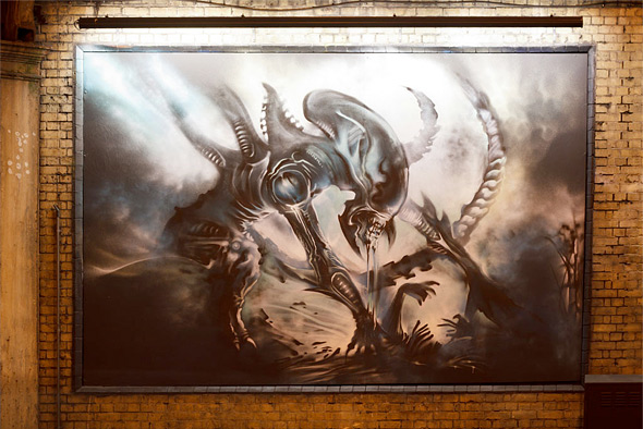 Alien Mural East London