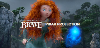 Brave Pixar Projection