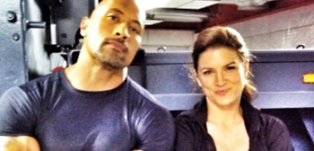 Gina Carano & Dwayne Johnson