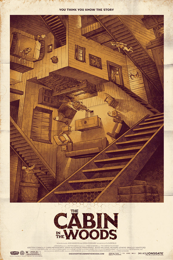 Mondo's Cabin in the Woods Poster - Phantom City Creative