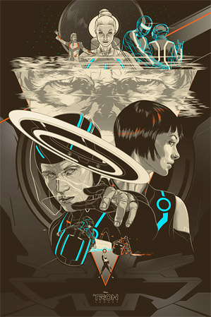 Martin Ansin's Tron Poster