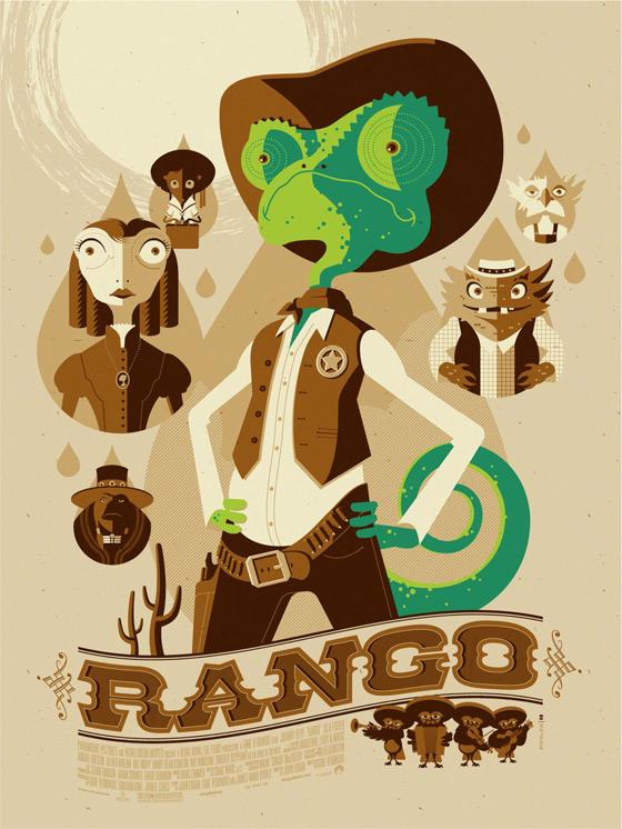 Rango - Tom Whalen Mondo Poster