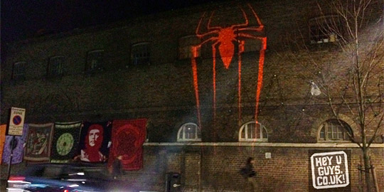 Amazing Spider-Man Projections London