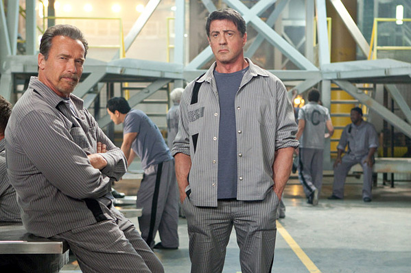 Stallone & Schwarzenegger in The Tomb First Look