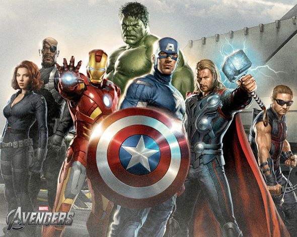 The Avengers Illustrated Wallpaper - Assembled 1