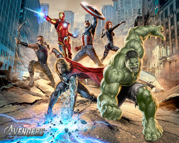 The Avengers Illustrated Wallpaper - Assembled 2