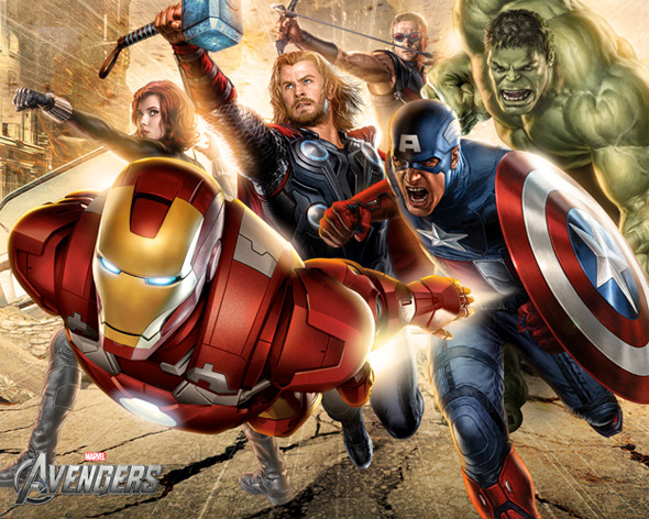 The Avengers Illustrated Wallpaper - Assembled 3