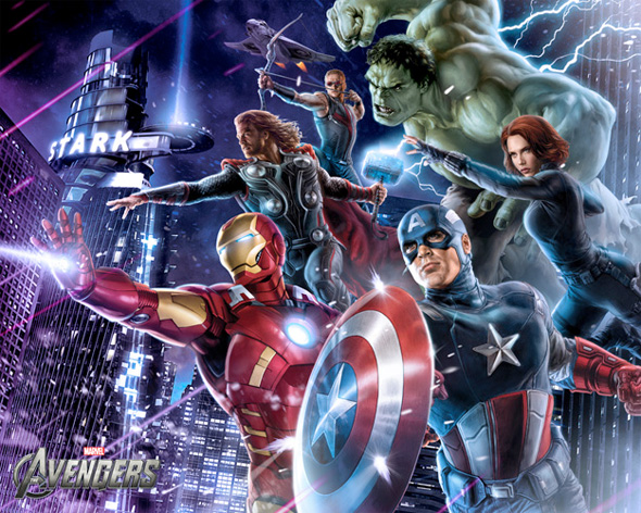 The Avengers Illustrated Wallpaper - Assembled 4