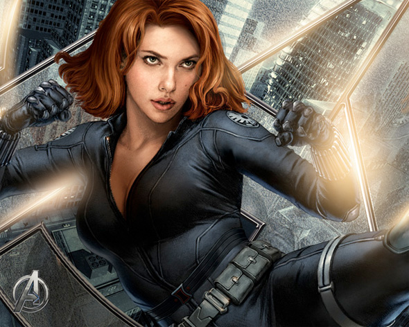 The Avengers Illustrated Wallpaper - Black Widow