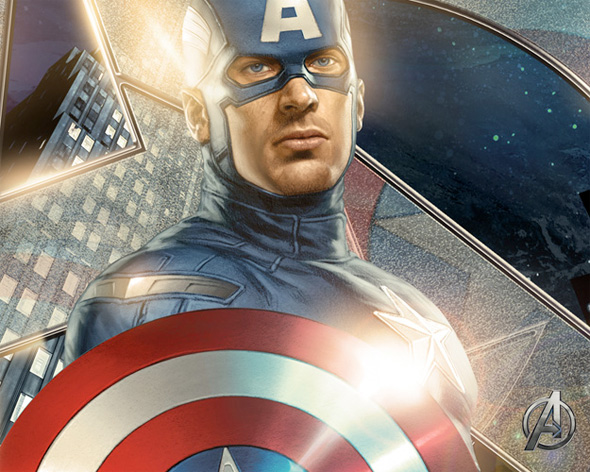 The Avengers Illustrated Wallpaper - Captain America