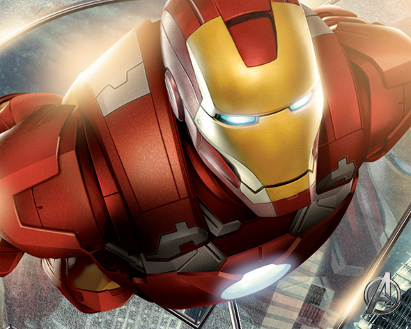 The Avengers Illustrated Wallpaper - Iron Man