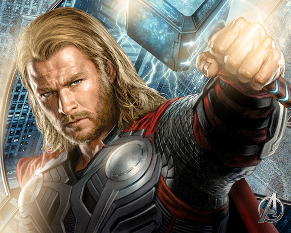 The Avengers Illustrated Wallpaper - Thor