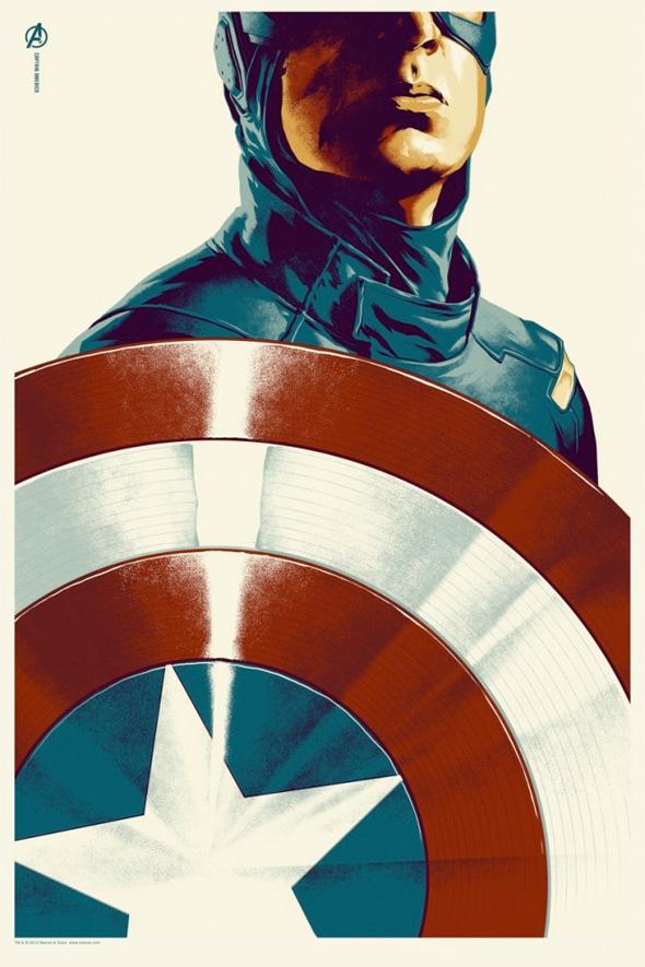The Avengers - Captain America Mondo Poster