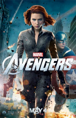 The Avengers - Black Widow & Captain America Poster