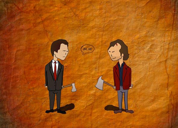 Oh Hi - Patrick Bateman and Jack Torrance