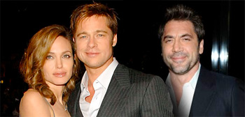 Angelina Jolie, Brad Pitt and Javier Bardem