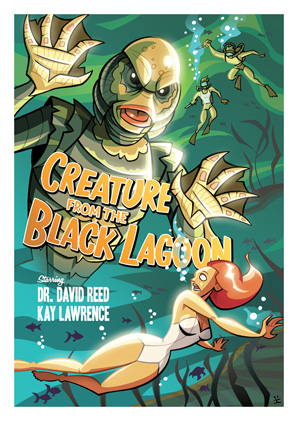 Cartoon Movie Posters - Creature from the Black Lagoon