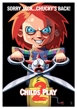 Cartoon Movie Posters - Child's Play 2