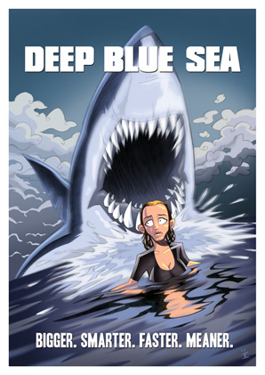 Cartoon Movie Posters - Deep Blue Sea