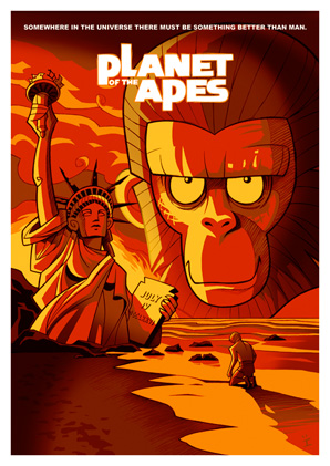 Cartoon Movie Posters - Planet of the Apes
