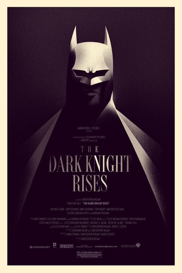 The Dark Knight Rises - Olly Moss Mondo Comic-Con Poster