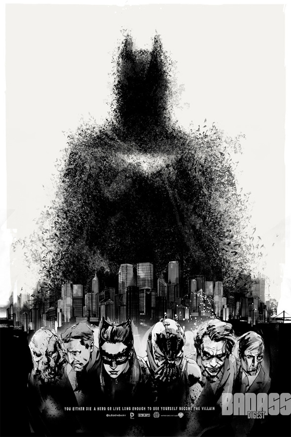 The Dark Knight Rises - Mondo Comic-Con Poster 2