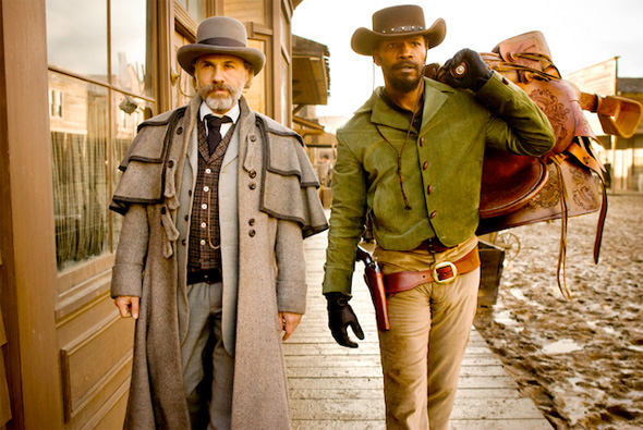 Django Unchained First Look - Christoph Waltz and Jamie Foxx