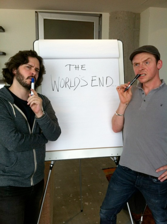 Edgar Wright and Simon Pegg Start The World's End