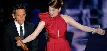 Emma Stone & Ben Stiller Oscars 2012