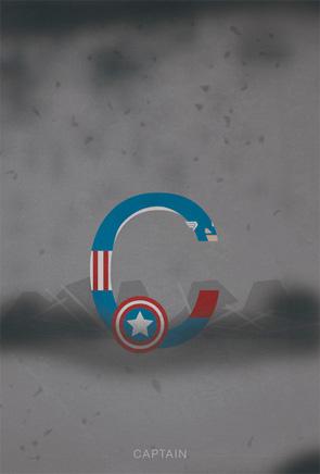 Helvetica Heroes - Captain America