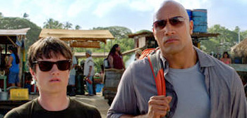Josh Hutcherson and Dwayne Johnson