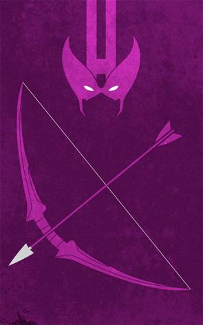 Minimalist Superhero Poster - Hawkeye