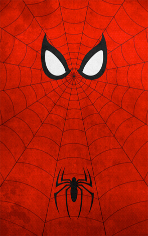 Minimalist Superhero Poster - Spider-Man