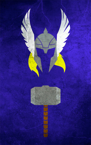 Minimalist Superhero Poster - Thor