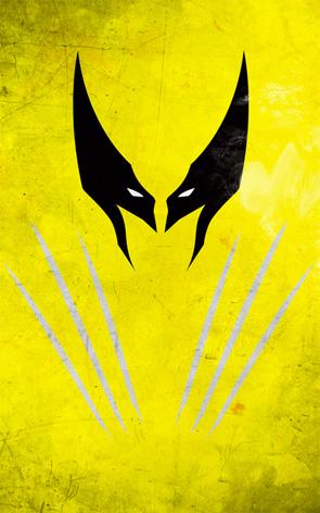 Minimalist Superhero Poster - Wolverine