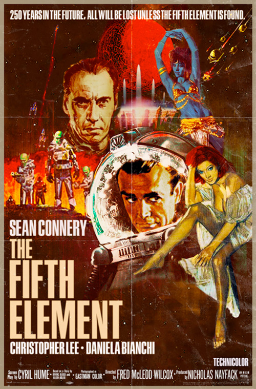 Modern Movies, Classic Posters - The Fifth Element