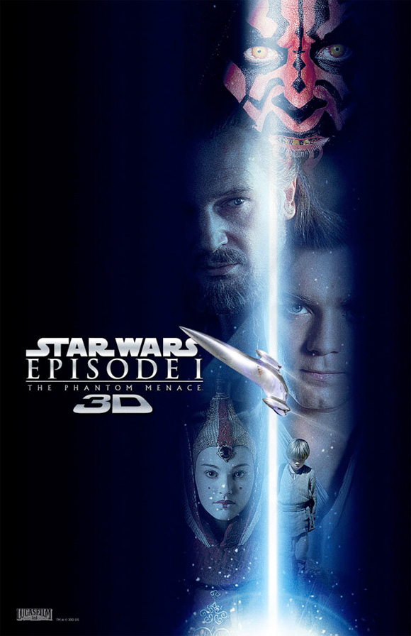 Star Wars Episode I: The Phantom Menace in 3D - Blue Lightsaber Poster