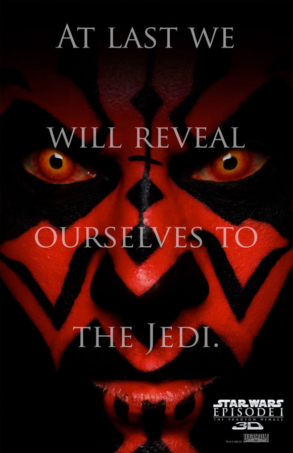 Star Wars Episode I: The Phantom Menace in 3D - Darth Maul Face Poster