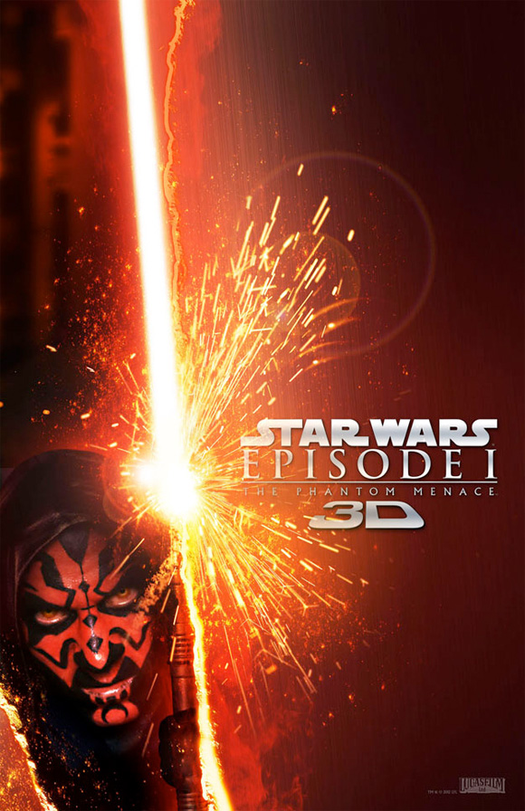 Star Wars Episode I: The Phantom Menace in 3D - Darth Maul Lightsaber Poster