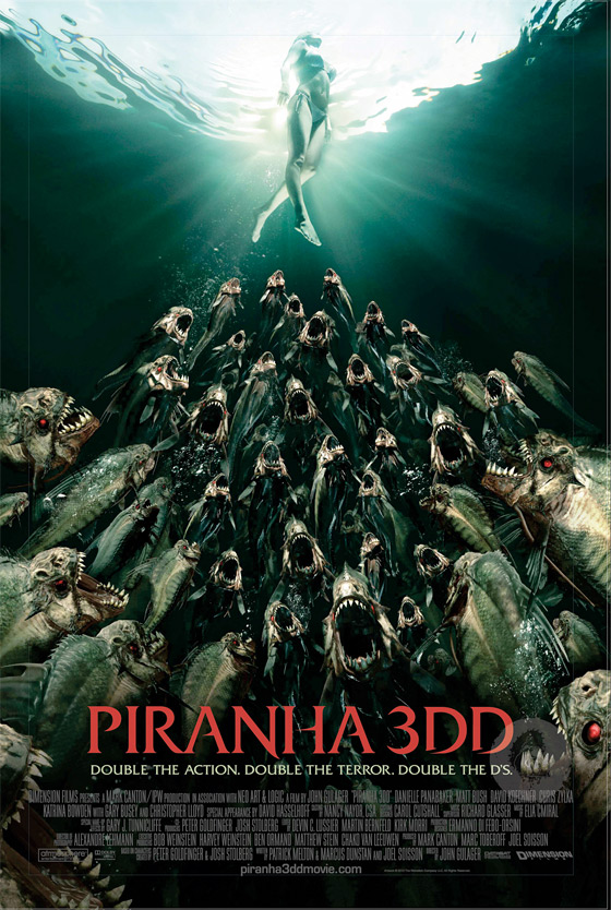 Piranha 3DD - International Poster