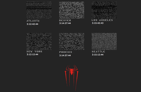 Mark of the Spider-Man Website Clocks