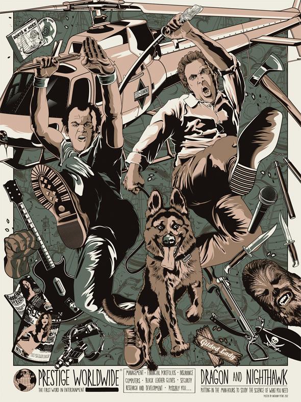 Step Brothers Exhibition - Prestige Worldwide Movie Poster